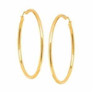 Italian 18K Gold-Plated Bronze 59mm Hoop Earrings
